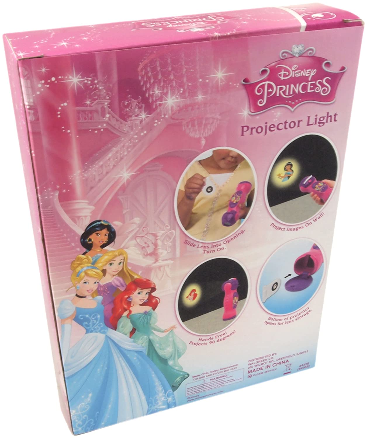 Disney Princess Projector Light featuring Jasmine, Ariel ...
