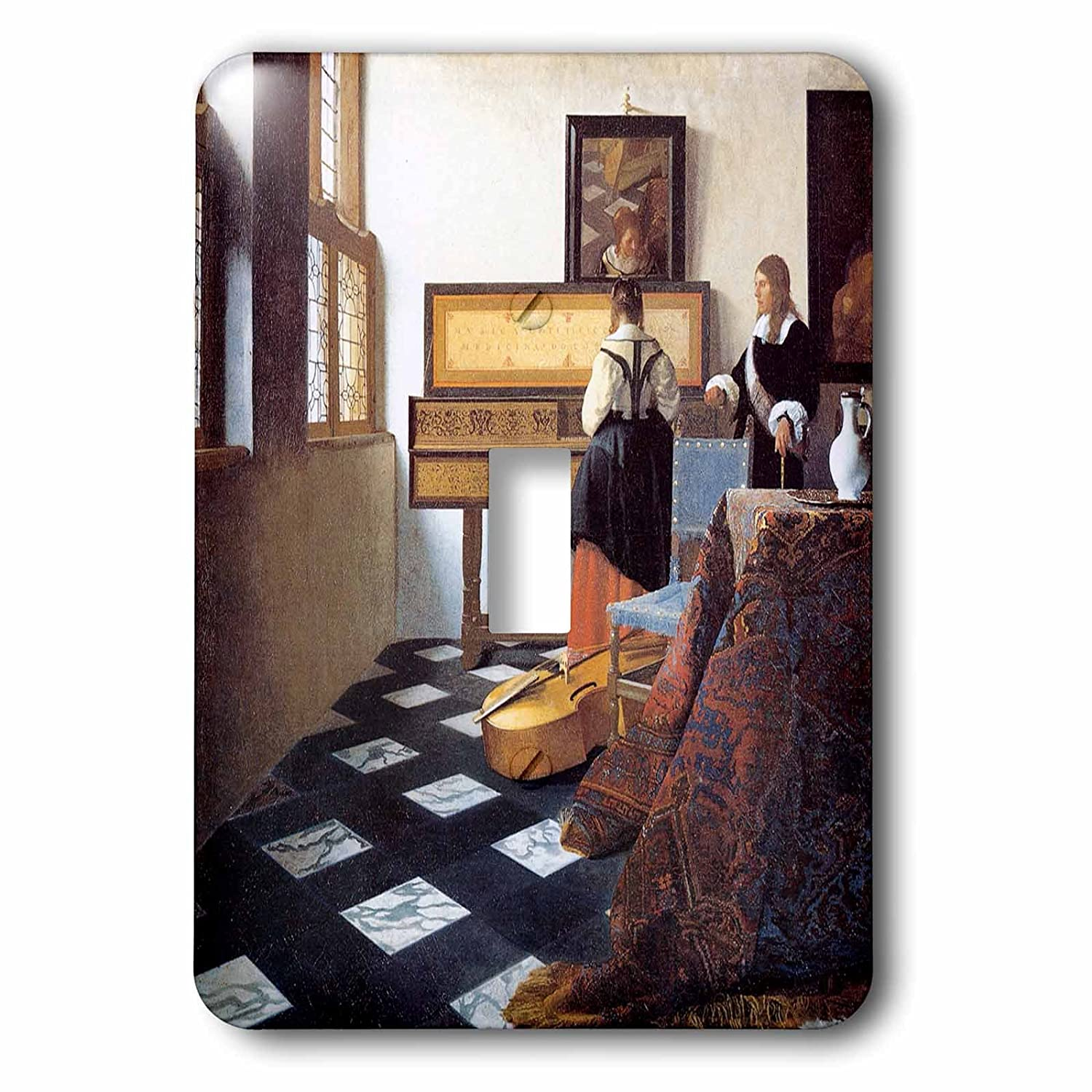 C Girl At The Piano Toggle switch By Johannes Vermeer 3dRose lsp/_175452/_1The Music Lesson