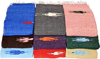 Velmex Quality Yoga Stretch Roll Thunderbird Mexican Blanket Assorted Colors