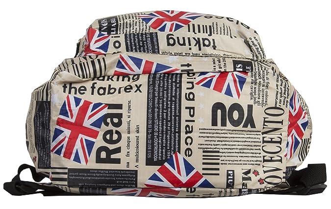 Amazon.com: Big Handbag Shop Large Union Jack Flag Newspaper ...