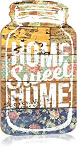 """Putuo Decor Mason Jar Decorative Wood Home Sign Wall Hanging Plaque 8.3""""x4.5 (Home Sweet Home 5)"""