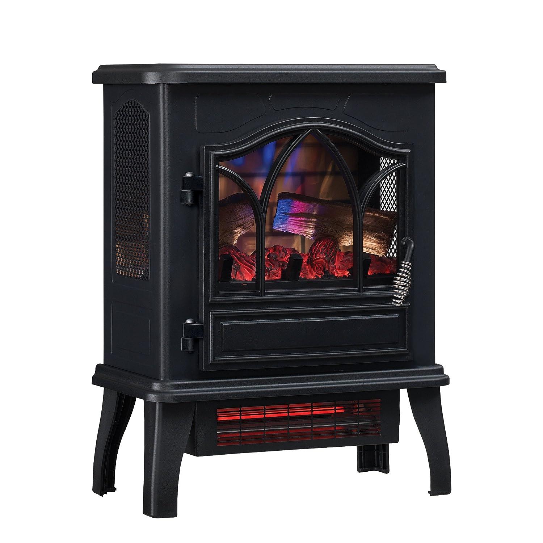Duraflame DFI-470-04 Infrared Quartz Fireplace Stove, Black