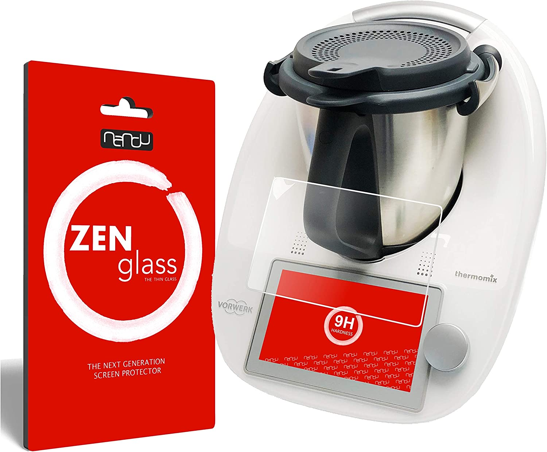 ZenGlass Nandu I Protector de Vidrio Flexible Compatible con Vorwerk Thermomix TM6 I Protector de Pantalla 9H: Amazon.es: Electrónica