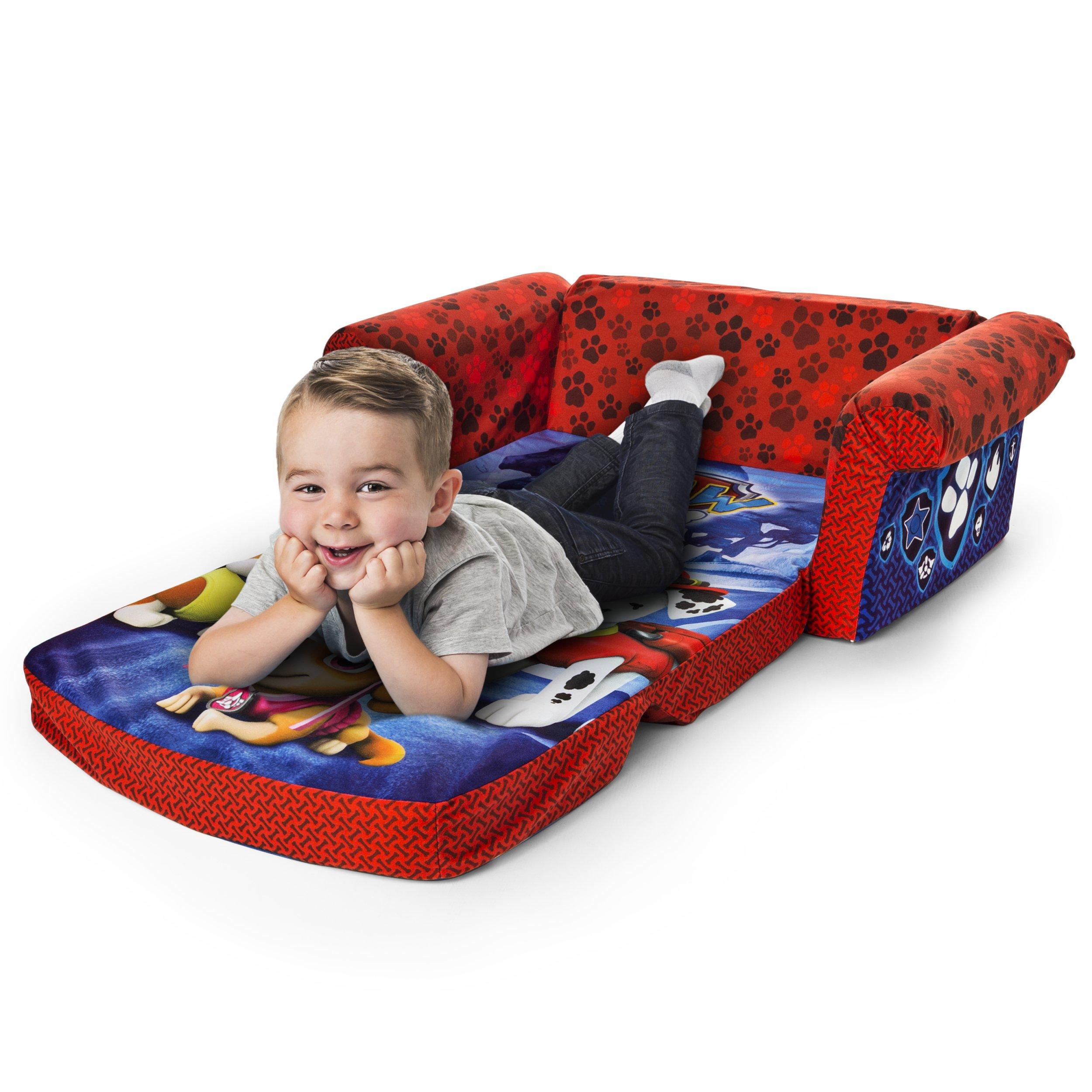Marshmallow Furniture Children's 2 in 1 Flip Open Foam, Nickelodeon Paw Patrol Sofa Chair Furniture, Red by Marshmallow Furniture (Image #2)