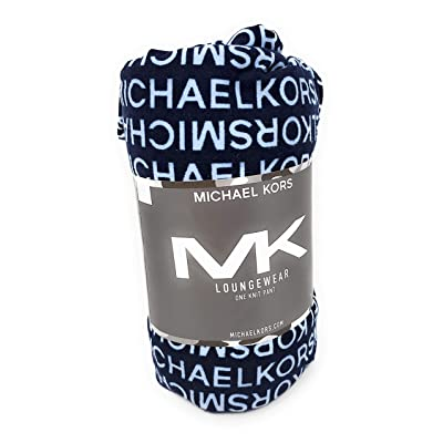 Michael Kors Men's Sleep/Lounge Pants, Midnight Blue at Men's Clothing store
