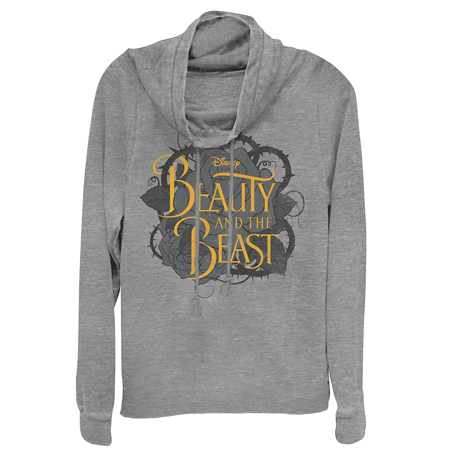 Fifth Sun Beauty And The Beast Juniors Thorn Logo Cowl Neck