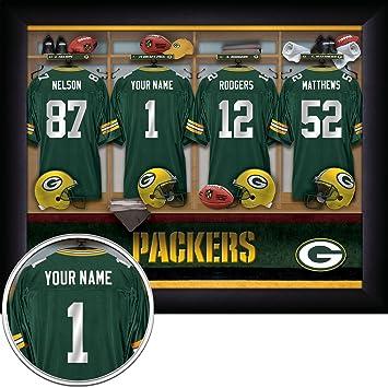 Amazon.com: Green Bay Packers Personalized NFL Football Locker Room ...