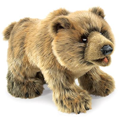 Folkmanis Grizzly Bear Hand Puppet: Toys & Games
