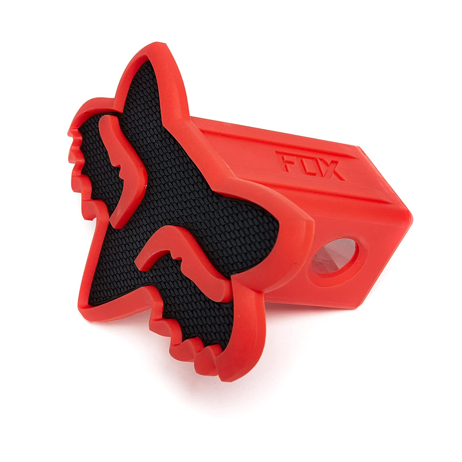 Black//Charcoal Fox Racing Trailer Hitch Cover