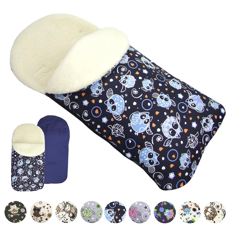 BAMBINIWELT Winterfußsack Fußsack für Babyschale von MAXI-COSI mit WOLLE EULE