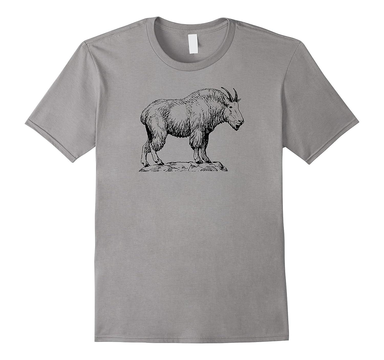 Mountain Goat Simple Mountain Sheep T-shirt-FL