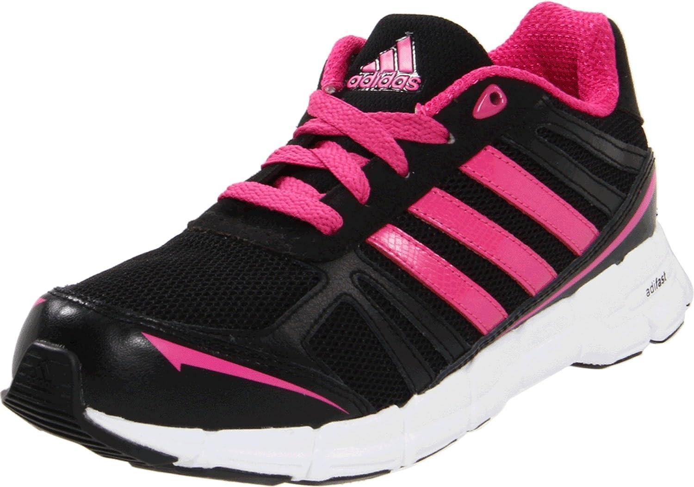 Amazon.com | adidas adiFast Running Shoe, Black/Pink, 7 M US Big ...