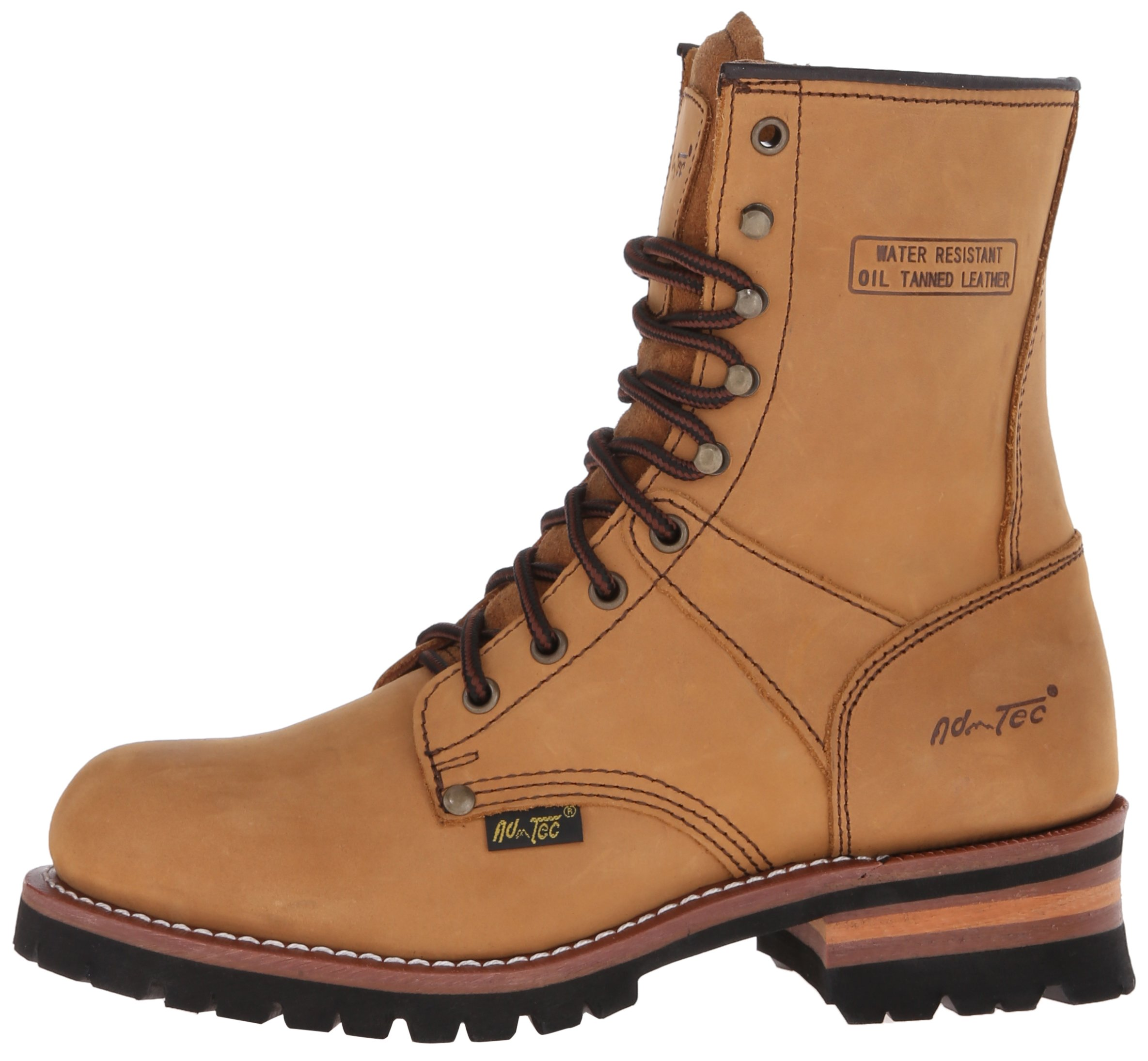 Adtec Men's 9 inch Logger Boot, Brown, 9 W US by Adtec (Image #5)