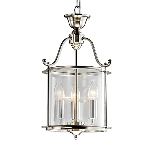 Indoor 3-light Antique Nickel Chandelier - Indoor 3-light Antique Nickel Chandelier - - Amazon.com
