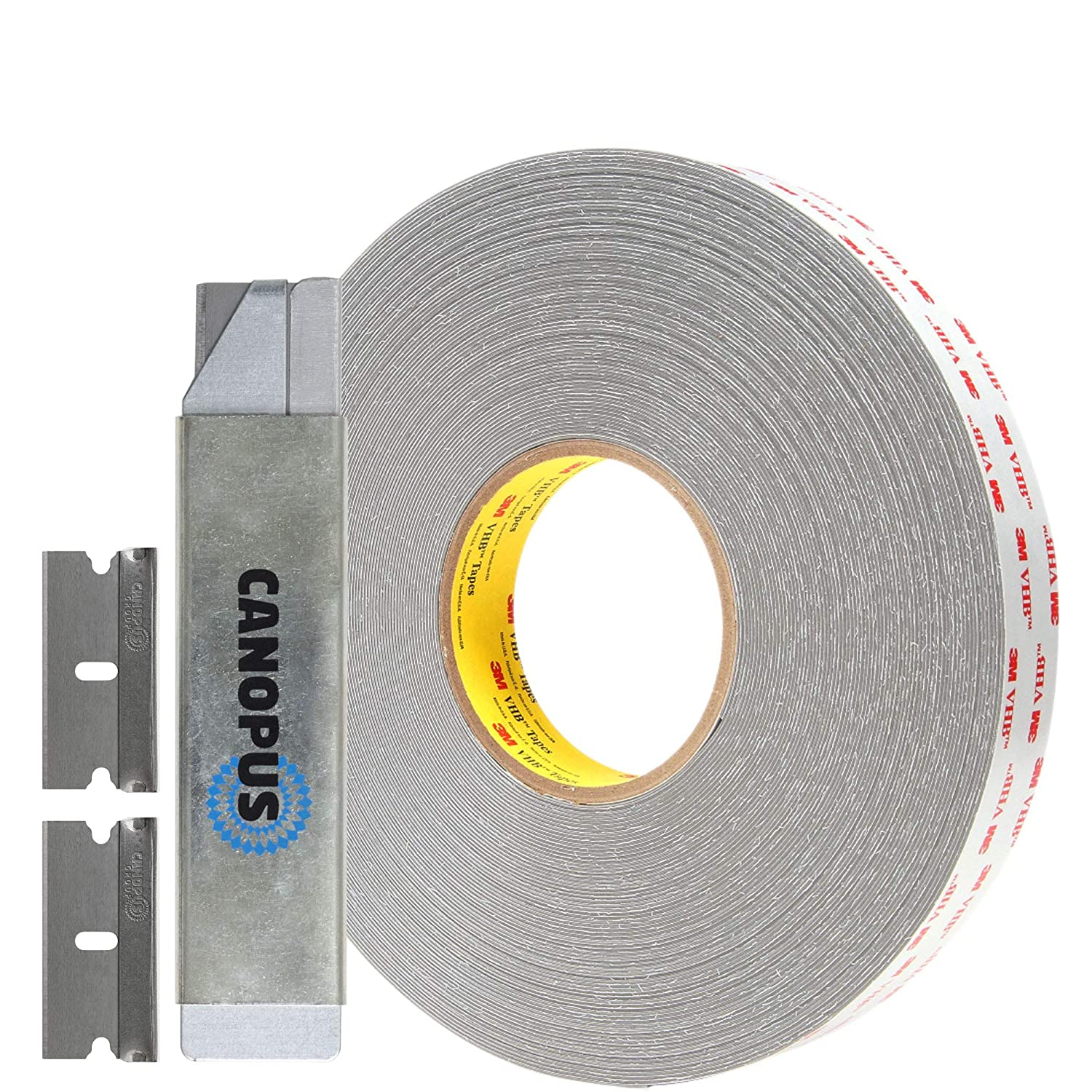 3M Double Sided Tape Heavy Duty, VHB Outdoor Indoor Mounting Tape, Waterproof Acrylic Adhesive Tape, Converted from RP45 Gray roll, (3/4 in x 5 yd)