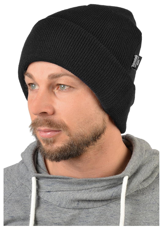 wasserabweisende warme Herren Outdoor Strickmütze mit Krempe bis 30 Grad minus in schwarz :)