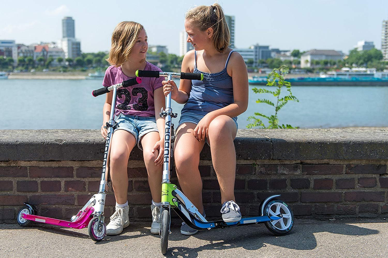 Amazon.com: HUDORA 125 Kick Scooter Teen 6-Year-Old Kid Girl ...