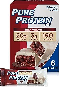 6-Pack Pure Protein Bars Red Velvet, 1.76 oz