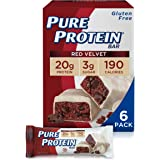 Pure Protein Bars, High Protein, Nutritious Snacks to Support Energy, Low Sugar, Gluten Free, Red Velvet Cake, 1.76 oz, Pack