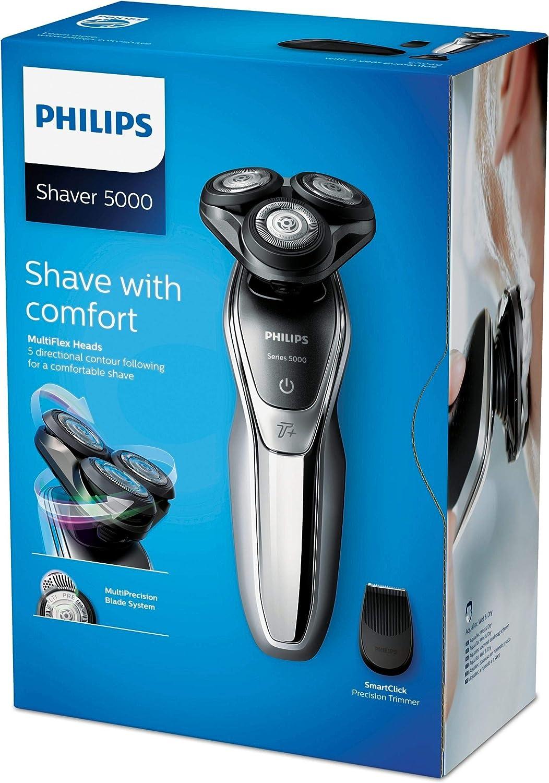 Philips Afeitadora S5941/27 Serie 5000 Plata, Negro Cromo Metálico: Amazon.es: Electrónica