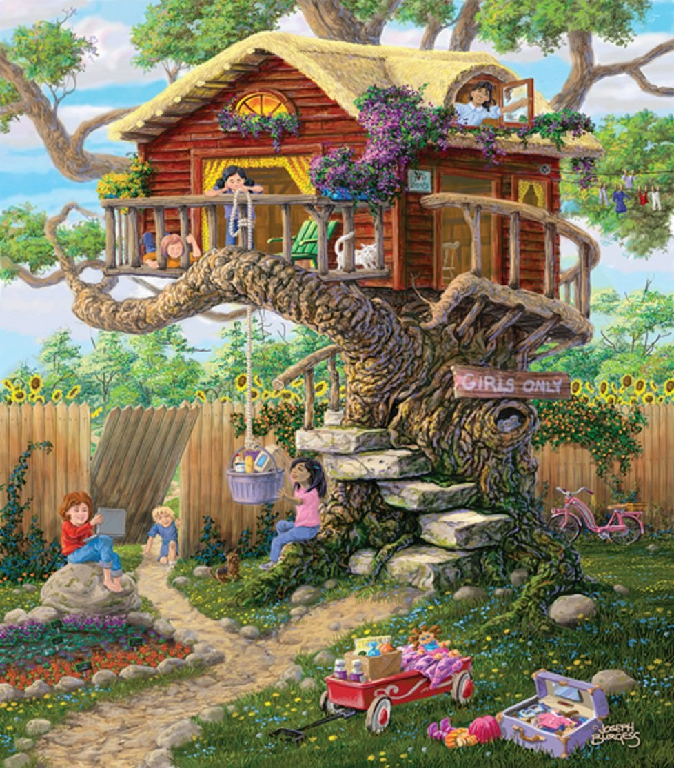 precio razonable SunsOut Girl's Clubhouse Jigsaw Puzzle (300-Piece) by by by SunsOut  descuento