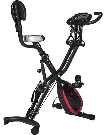 Ultrasport F-Bike Advanced bicicleta estática con ordenador y App, sensor de pulsaciones,