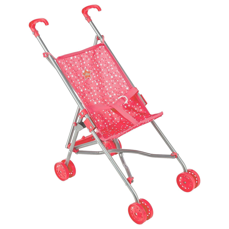 Betoys- 123205–Kinderwagen Gehstock faltbar Sterne–La Chambre de Lily–Farbe Zufällige Nuance-Rosa JJA SA