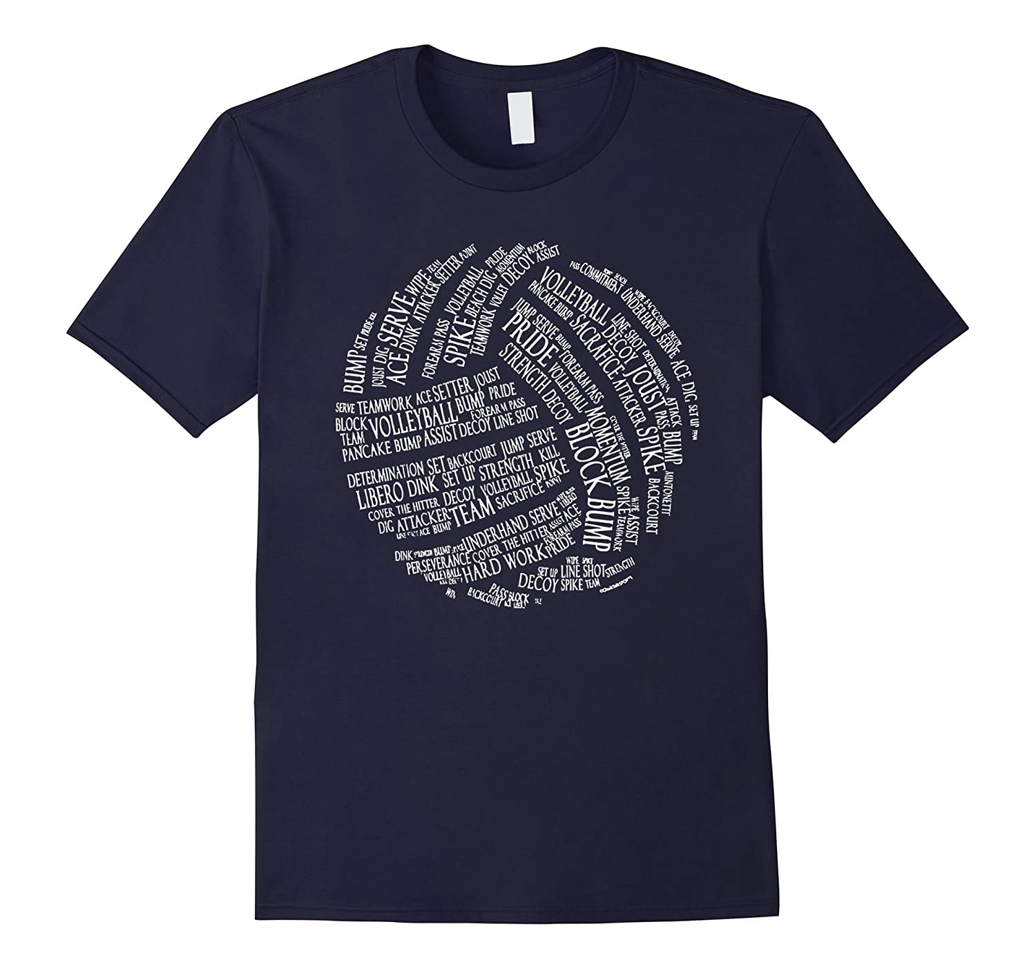Volleyball t shirt - Volleyball words-CL