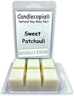 product image for Candlecopia Sweet Patchouli Strongly Scented Hand Poured Vegan Wax Melts, 12 Scented Wax Cubes, 6.4 Ounces in 2 x 6-Packs
