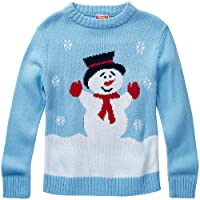 Boys Snowman Character Christmas Novelty Knitted Jumper