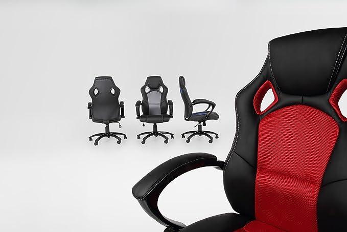 SintéticaColor OficinaCuero Escritorio Ac Rejilla Furniture 44045 Silla Design Negro Y Sintético De wXk08nPO