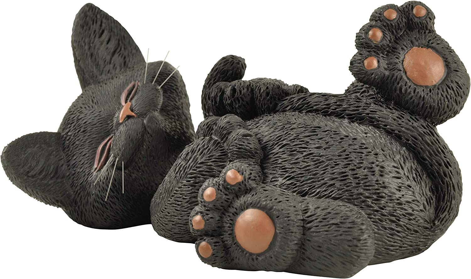 Whimsical Black Cat Playing with Tail Figurine Cute Collectible - Happy Cat Collection - Cat Lover Gifts for Women, Cat Lover Gifts for Men, Cute Cat Gifts, Cat Office Desk Accessories