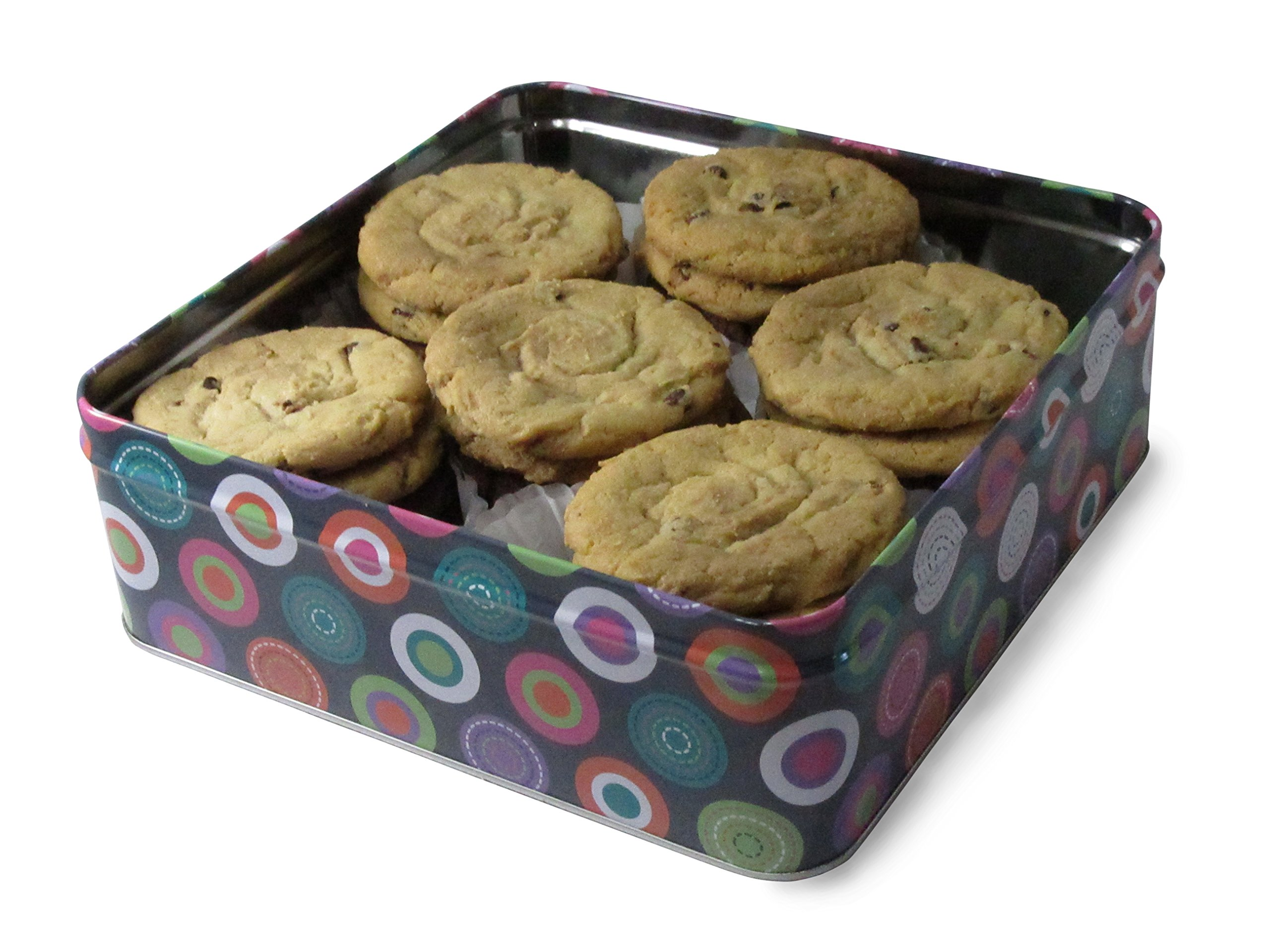 Fresh Baked Chocolate Chip Cookie Tins, Comes in Multiple Sizes | Gimmee Jimmy's Authentic Cookies-2 Pound Tin by Gimmee Jimmy's Cookies (Image #2)