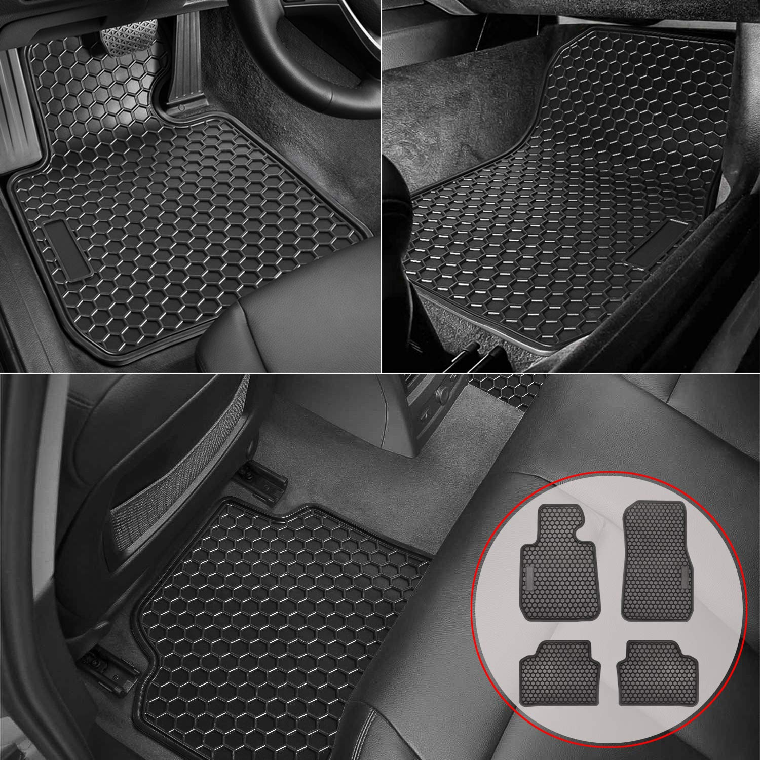F80 M3 Custom Fit Front /& 2nd Row Liner Environmentally Friendly Heavy Duty Rubber All Weather Protection Odorless Bonbo Floor Mats for BMW 3 Series 2012-2018 F30 320i 328i 335i /& 2015 Pack of 4