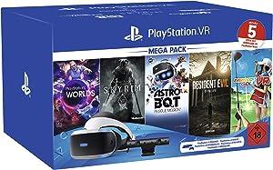 Playstation VR Mega Pack 2, VR-Brille INKL. Camera + VR Worlds + Skyrim VR + Astro BOT + Resident Evil 7 + Everybody's Golf VR, CUH-ZVR2
