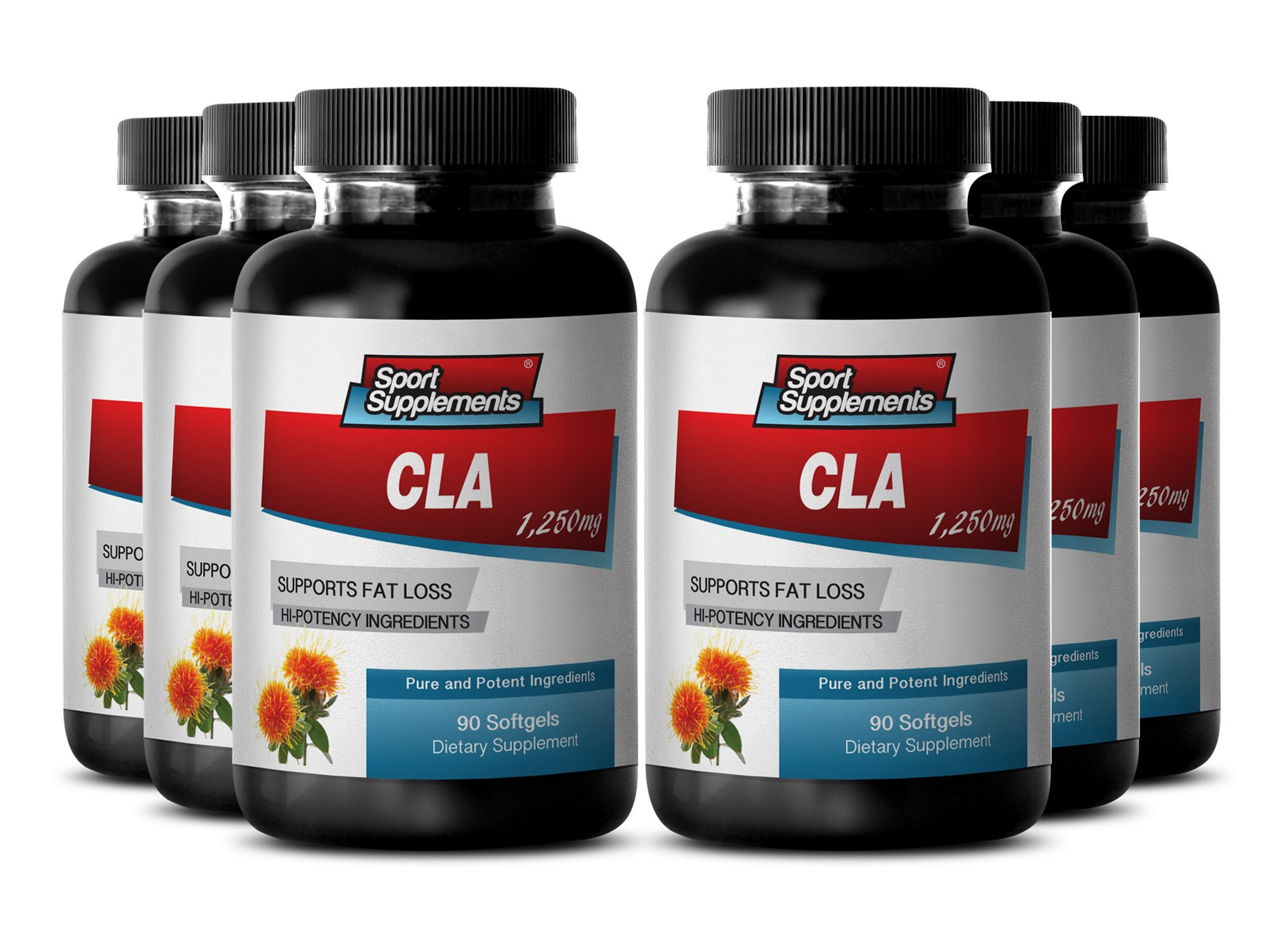 CLA Diet Supplement, Weightloss, Body Fat Loss Lean Muscle (6 Bottles, 540 Softgels)