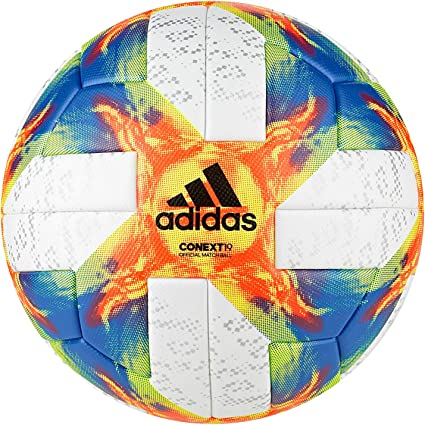 adidas Conext19 Omb Ball, Hombre, White Yellow/Solar Red/Football ...