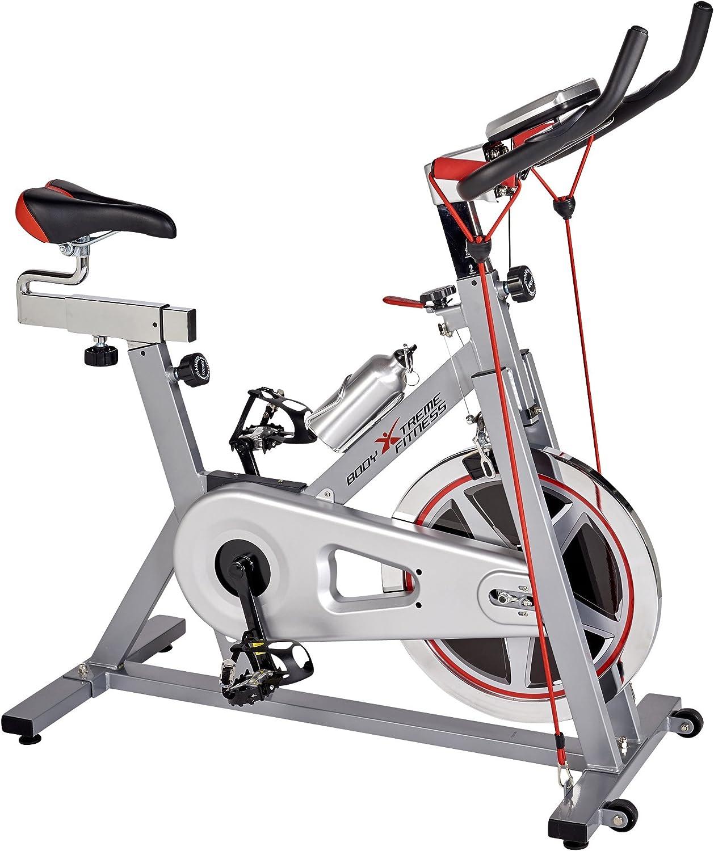 Cuerpo Xtreme Fitness bicicleta estática 2 en 1, velocidad demon ...