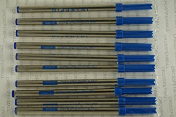 10 Cross Geniune Intrepid Blue Ink Refill for Cross ballpoint pens