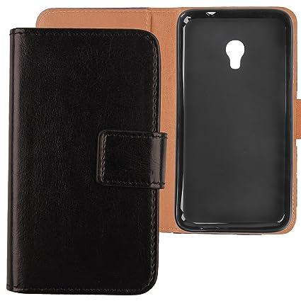 "Gukas Flip PU Billetera Design Para Alcatel One Touch Pixi 4 5045X 5"" / Orange"