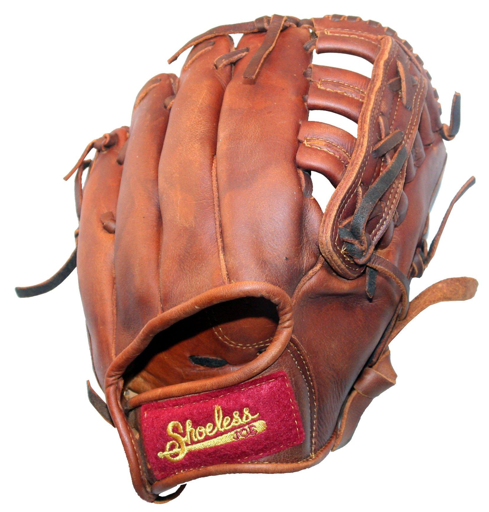 Shoeless Joe Child's First Baseball Glove, 100% Leather Classic Ball Glove (10'', Right-Hand Throw)