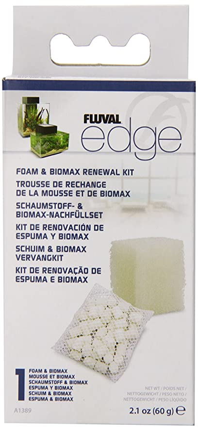 amazon com hagen 12 pack fluval edge foam and biomax renewal kit