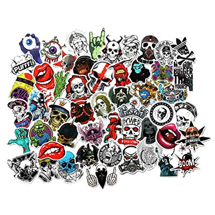 amazon com fngeen cool stickers pack for laptop horror skull crazy