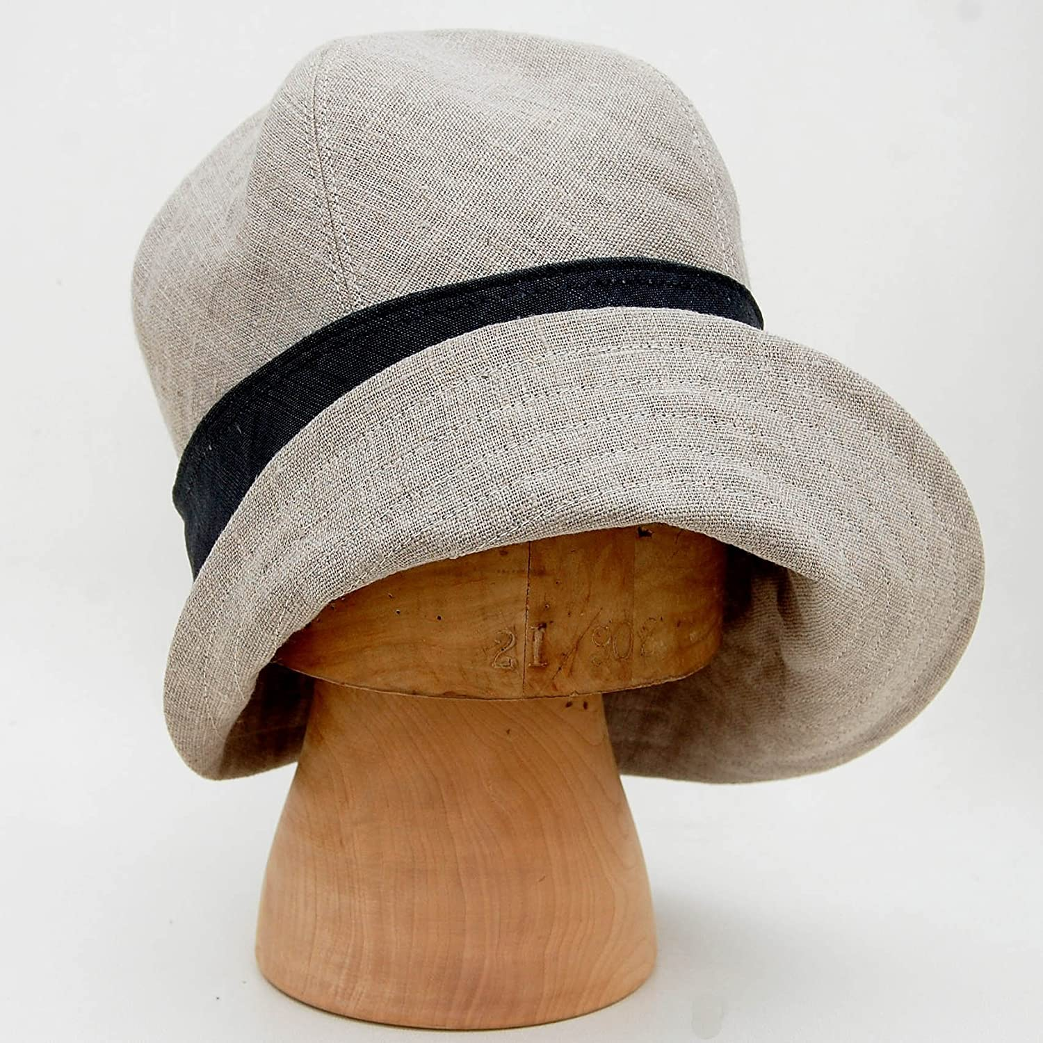 Amazon.com  ZUT hats -French natural linen sun hat -ZUTceleste  Handmade aa0dbb3ad07