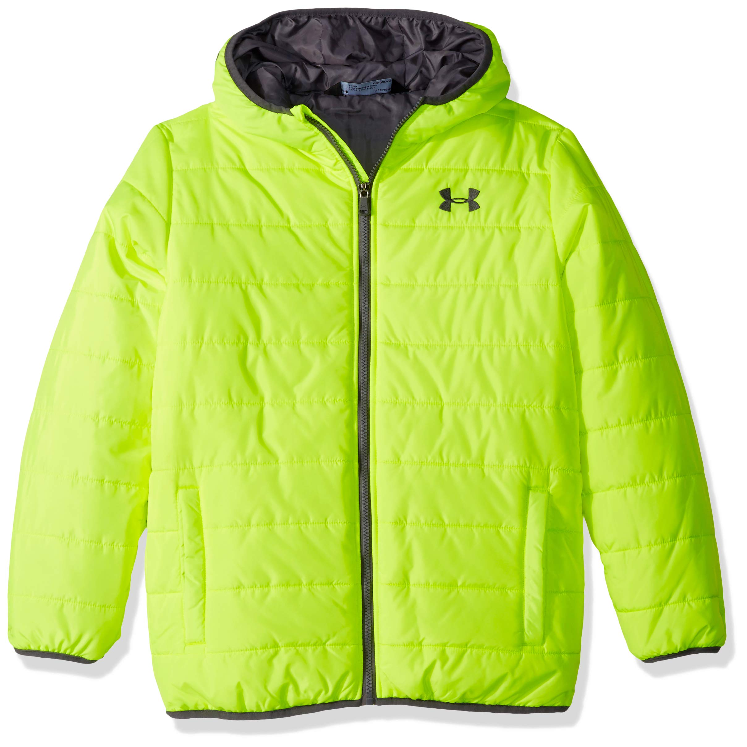 Under Armour Boys' Toddler Pronto Puffer Jacket, hi gh/vis Yellow 4T