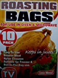 Less Mess!Keeps in Juices! Multi-purpose oven bags for use in Oven and Microwave (10 in a pack)