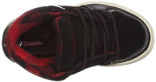 Vans Y EDGEMONT (Chk) blk/wt/blu VNJ5LIS, Sneaker, Ragazzo, Nero (Schwarz/(Weather) black/red), 4 UK