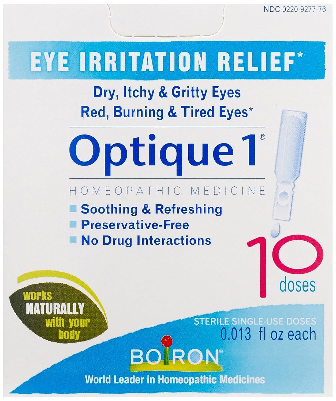 Boiron Optique 1 Eye Irritation Relief Eye Drops, 30 Count (0.013 fl oz each) 306969277720