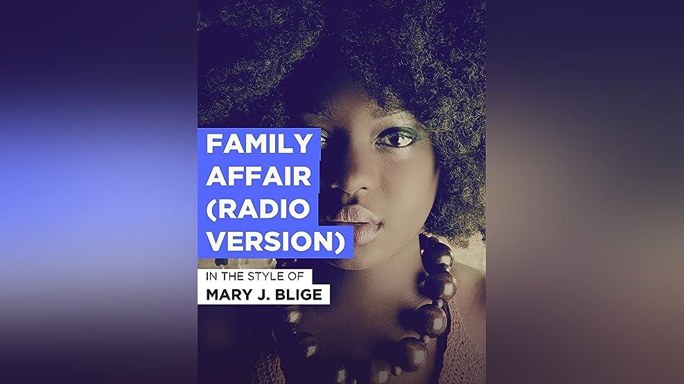 Family Affair (Radio Version)