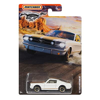 MBX Matchbox '65 Ford Mustang GT 5/12, White: Toys & Games